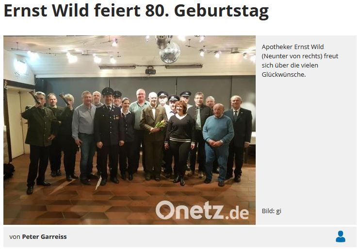 Ernst Wild feiert 80. Geburtstag